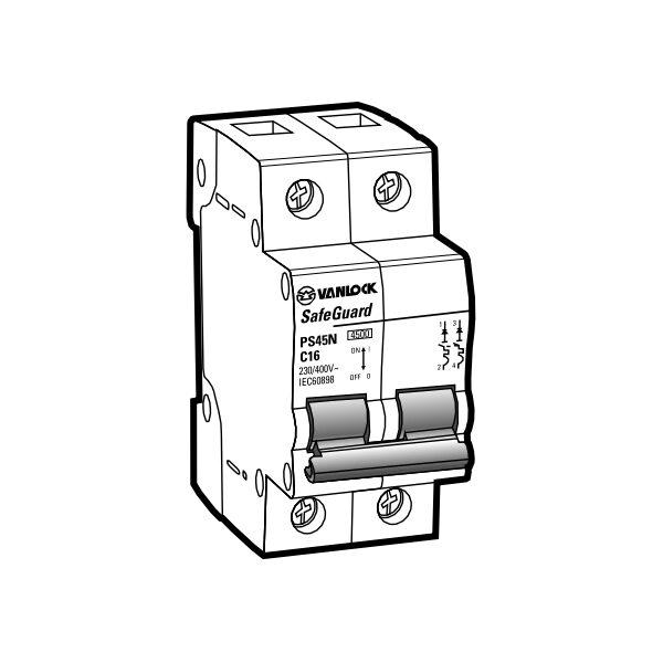 Cầu dao tự động MCB PS45N/C2016
