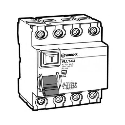 Cầu dao chống dòng rò RCCB VLL1-63/4016/030