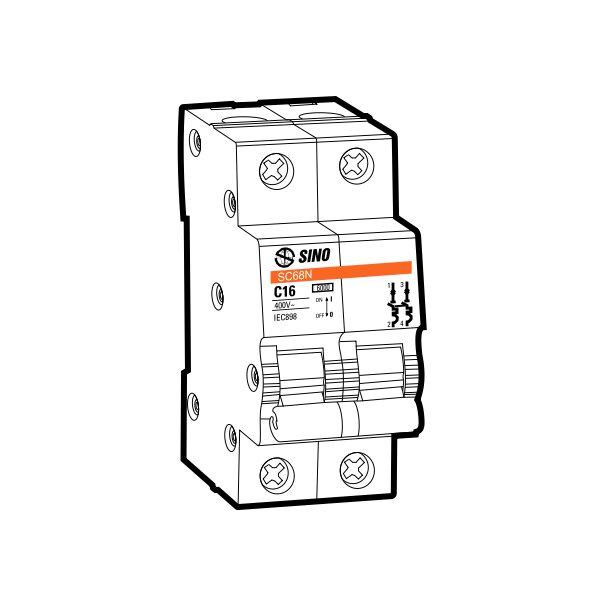 Cầu dao tự động MCB SC68N/C2016