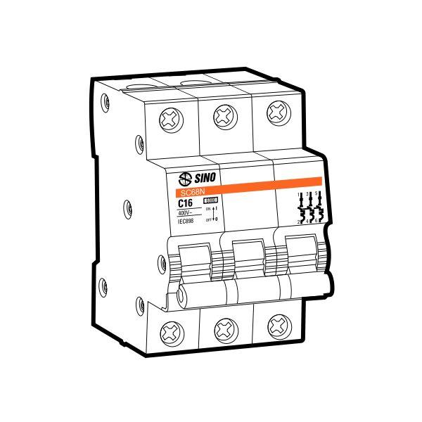 Cầu dao tự động MCB SC108N/C3016