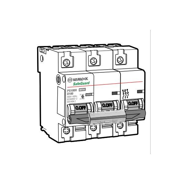 Cầu dao tự động MCB PS100H/3/D125
