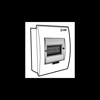 Tủ điện âm tường mặt nhựa E4FC 2/4S