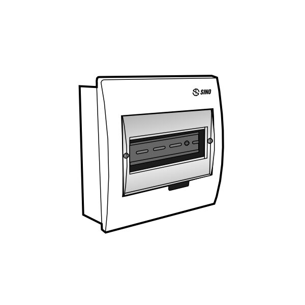 Tủ điện âm tường mặt nhựa E4FC 3/6SA