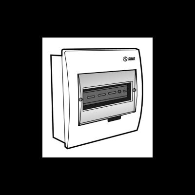 Tủ điện âm tường mặt nhựa E4FC 3/6S