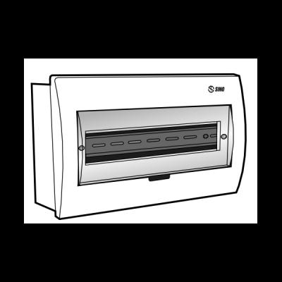 Tủ điện âm tường mặt nhựa E4FC 14/18L