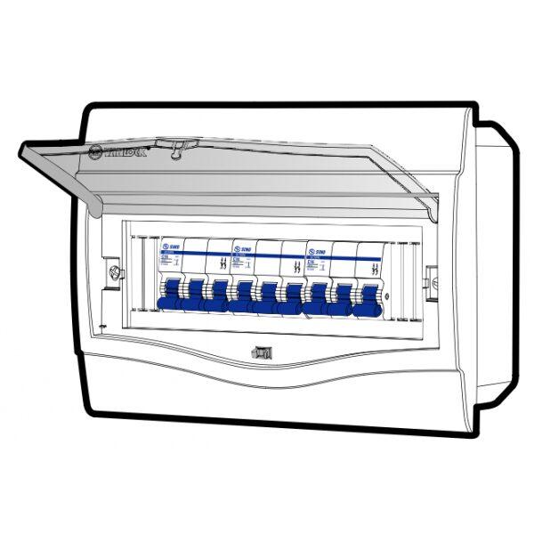 Tủ điện âm tường mặt nhựa V4FC9/12SA