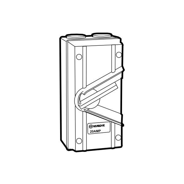 Cầu dao chống thấm WHS1-20