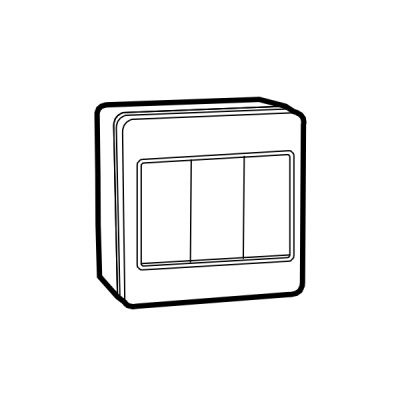 Công tắc phòng nước đôi 1 chiều UKW-2GS