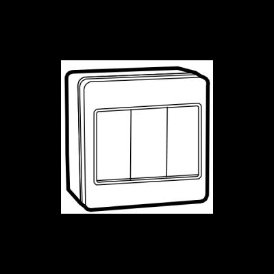 Công tắc phòng nước đơn 2 chiều UKW-1GBS