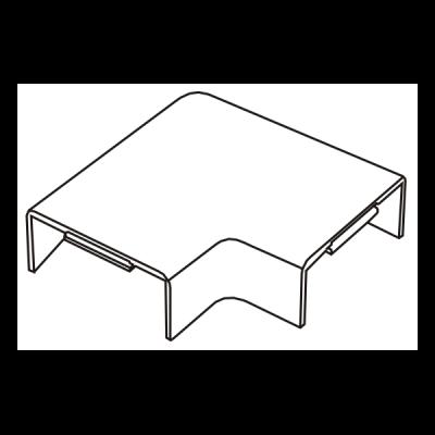 Cút chữ L dẹt góc vuông AE100/02