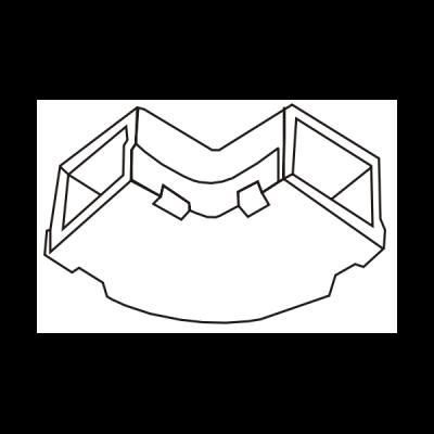Cút chữ L dẹt góc tròn AE39/T01