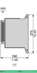 Mô tả kích thước khởi động mềm ATS48D47Q