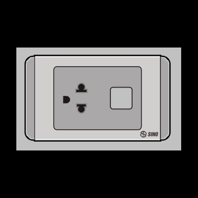 Ổ cắm đơn 3 chấu 1 lỗ S68GUE/X