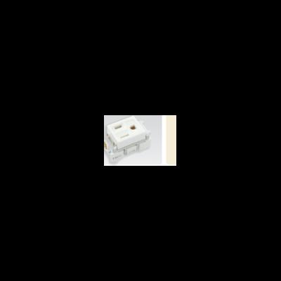 ổ cắm đơn có dây nối đất(dùng cho phích cắm dẹp) WN11017W