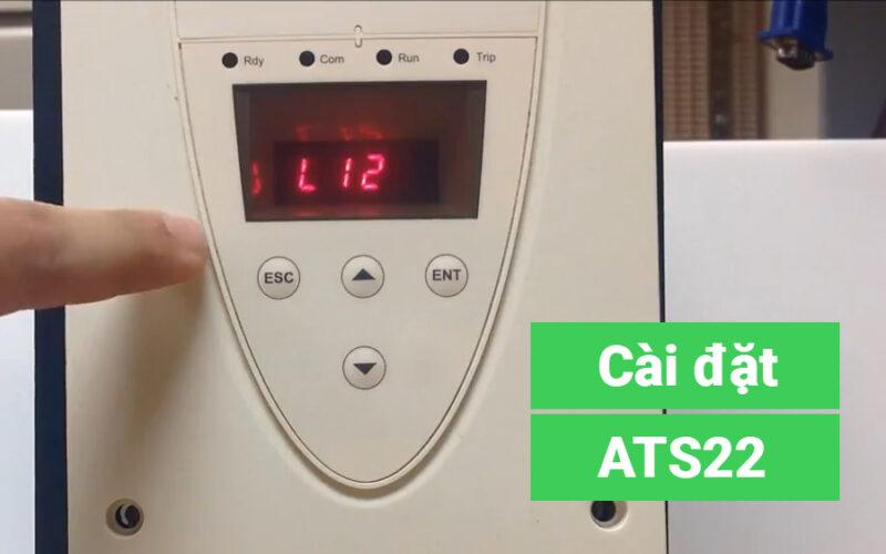 Hướng dẫn cài đặt khởi động mềm Schneider Altistart 22 – ATS22 Tiếng Việt